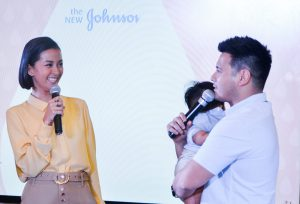 Parents-of-two and JOHNSON'S® advocates Bianca Gonzalez-Intal and John Prats, with 9-month-old Freedom, shared their own worries and experiences when it comes to parenting and disciplining their kids.